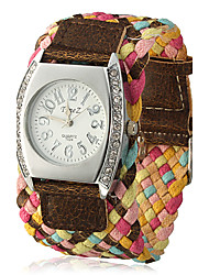 Women's Knitted Wide Fabric Band Quartz Analog Wrist Watch (Assorted Colors) Cool Watches Unique Watches