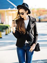 TS Weit Tailored Revers dünne Taillen-Kurzschluss-Mantel