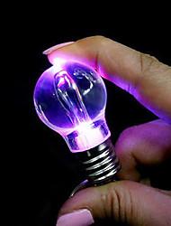 Colorful Bulb Shaped Pendant LED  Keychain Light