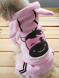 Winter - Roze Katoen - Broeken / Hoodies - voor honden - XS / S / M / L / XL / XXL / XXXL