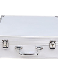 Dragonhawk® Large Size White Aluminum Tattoo Kit Case Traveling Convention Carry