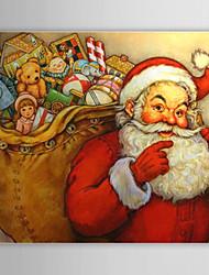 Christmas Holiday Gift Oil Painting Santa Clause Ready to Hang