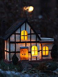 1PCS Yellow LED  Solar Powered Garden Lamp In House Design