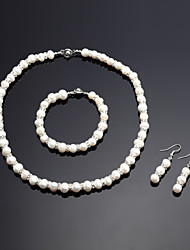 Women's Jewelry Set Pearl/Rhinestone