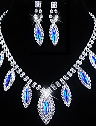 Jewelry Set Women's Wedding / Engagement / Birthday / Gift / Party / Special Occasion Jewelry Sets Alloy Rhinestone Necklaces / Earrings