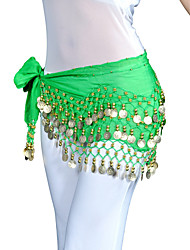 Chiffon Belly Dance Belt With 128 Coins For Ladies(More Colors)
