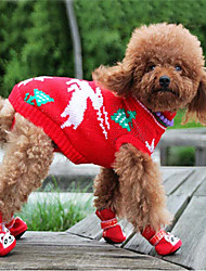Dog Sweater Red / Blue / Pink / Rainbow Winter Animal Keep Warm