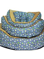 Star Pattern morbido pile Cuscino Letto per Animali Cani