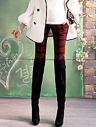 Pink Doll patrón de prueba de Tweed recortada Pantalones