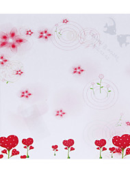 Personalized Strawberry Flower Pattern Paper Petal Cones - Set of 12