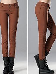 Skinny Pants in pile da donna