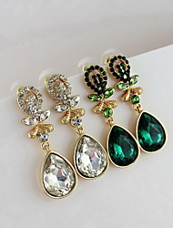 New Design Alloy With Rhinestone Drop Earrings (More Colors)