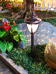 2PCS weiße LED Retro Edelstahl Solar Rasen Licht