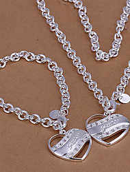 European Silver Alloy (Bracelets&Bangles&Necklaces) Silver Jewelry Sets