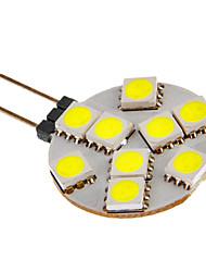 g4 2W 9x5050smd 81lm lumière blanche chaude / froide Ampoule LED pour la voiture (12V DC)