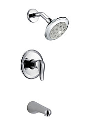 Contemporary Three Holes Wall Mounted Shower Faucet