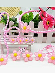 Z&X®  Sweet Multicolor Imitation Pearl (Necklace&Earrings&Bracelet) Jewelry Set()
