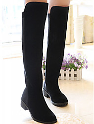 Babiniu Damen Schwarz All-Match Suede Over Knee High Boots