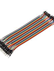 40pin 1P-1P Male naar Male Dupont Line Kleurrijke Dupont Wire (20CM)