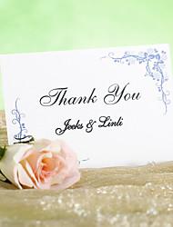 Inviti di nozze Biglietti di Ringraziamento Cartoncino piatto Non personalizzate 12 Pezzo/Set