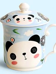 Panda Caneca com Tampa, Porcelana 12 onças