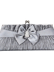 Amazing Silk With Rhinestone Bowknot Clutches/Evening Handbags