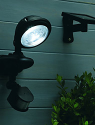 3PCS 0.2W Bianco LED Solar Light Wall Garden Light
