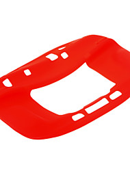 Soft Silicone Protective Case Cover for Nintendo Wii U Game Console (Red)