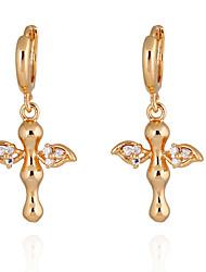 Boucles d'oreilles en or 18 carats Zircon ER0187 de Yueli femmes