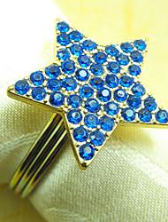 Shinning étoile Perles acryliques anneau de serviette, Dia4.2-4.5cm Ensemble de 12