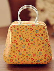 Handbag Tin Box Desktop Storage Box(Yellow Shivering)