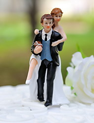 Cake Topper Non-personalized Classic Couple / Sport Resin Wedding Black Classic Theme Gift Box