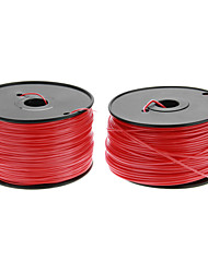 Reprapper 3D Printer Consumables Fluorescent Red Color (Optional Wire Diameter and Material) 1 Piece
