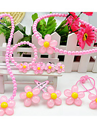 Girl's Sunflower Pearl Jewelry Set(7 Pieces)(Random Color)