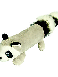Squeak Fleece Raccoon Style Fun Plush Toy for Pets Dogs Cats (Assorted Sizes)