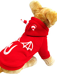 Chien Costume / Manteaux / Pulls à capuche Rouge Hiver Ange et Diable Cosplay / Halloween