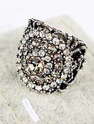ME  Rhine Stone Flower Ring(NJ00184)