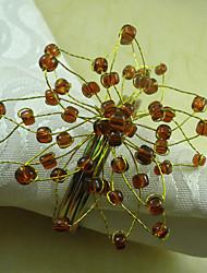 Kleine Bloem Acryl Kralen Servetring, Dia4.2-4.5cm set van 12