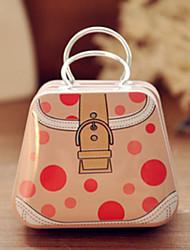 Handbag Tin Box Desktop Storage Box(Dot Handbag)