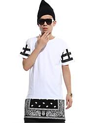 Men's Hip Hop Zipper Long T-shirt