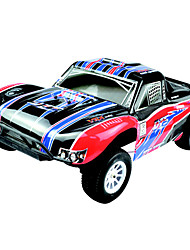 1/10 Scale Nitro RC Truggy RTR Single Speed ​​(vermelho e preto)