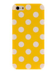 Hard Case Polka Dot couleur caoutchouté pour iPhone 5/5S PC (couleurs assorties)