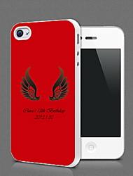 Personalized ali di angelo Protection Shell per iPhone 4S / 4 (più colori)