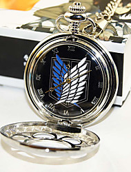 Clock/Watch Inspired by Attack on Titan Eren Jager Anime Cosplay Accessories Clock/Watch Black / Silver Alloy Male