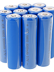 ICR 5000mAh 18650 Li-ion Rechargeable Battery(10pcs)