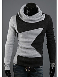 KALO Cowl Collar Star Pattern Sweater(Gray)
