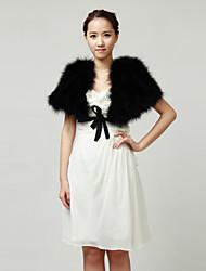 Ostrich Fur Hochzeit / Party Wraps / Jacken (weitere Farben)