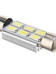 Girlande-2W 6x5730SMD 140lm 6000K Cool White LED Lampe für Auto (DC 12V, 41mm, 1pcs)