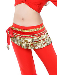 Belly Dance Belt Women's Training Velvet Beading Coins