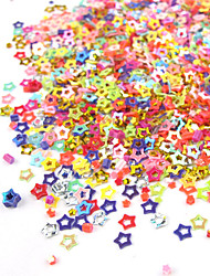 1PCS Box oco colorido prego de cinco pontas da estrela Arte Decoração